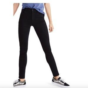 Madewell Roadtripper Skinny High Rise Black Jeans